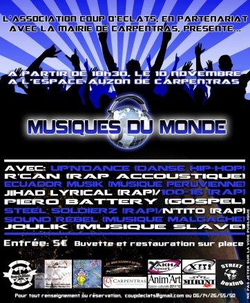 """Concert n-tito pour """"Musiques Du Monde"""""""