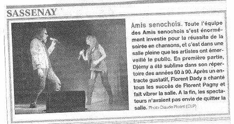 ARTICLE PARUE DANS LE JOURNAL !!