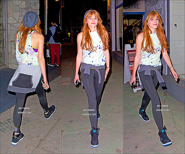 . 13/03/2013 : Bella arrivant au Millenium Danse Complex. .