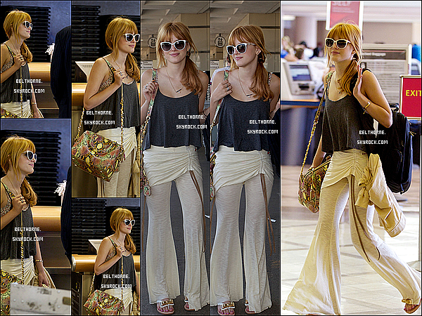 . 13/05/2013 : Bella était a l'aéroport de Lax à Los Angeles. .