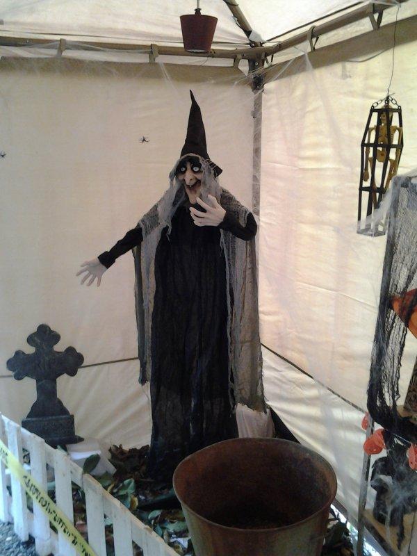 Voici les décorations d'halloween installées