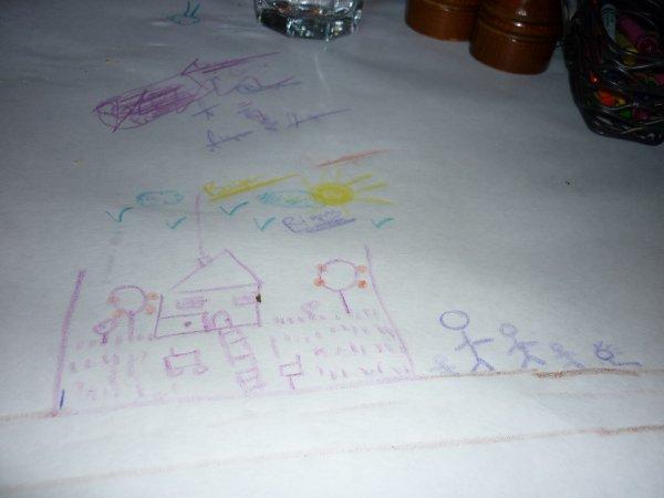 Y'a des crayons de dispos sur la table