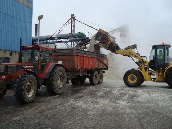Chargement pulpes surpressées à la sucrerie 2009