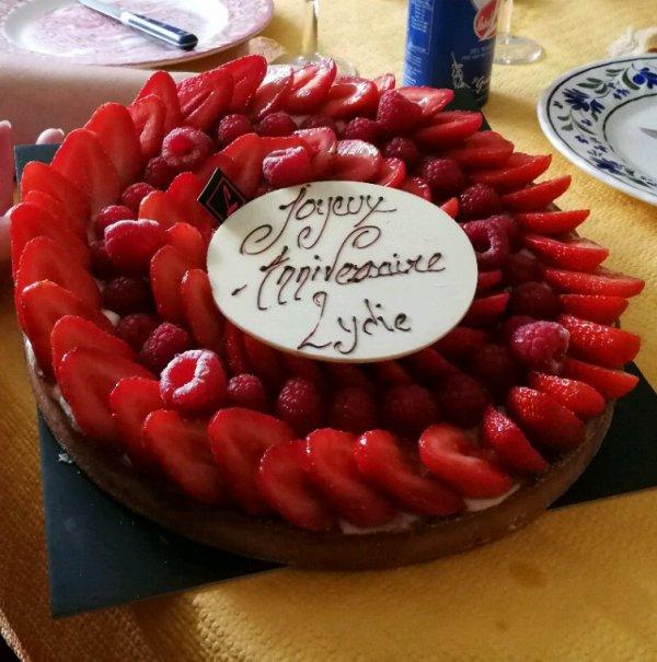 tarte au fraises framboises
