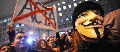 Manifestation contre les lois ACTA à Lille
