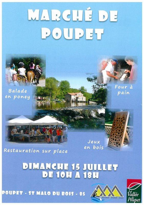 Marché de Poupet, dimanche 15 juillet.