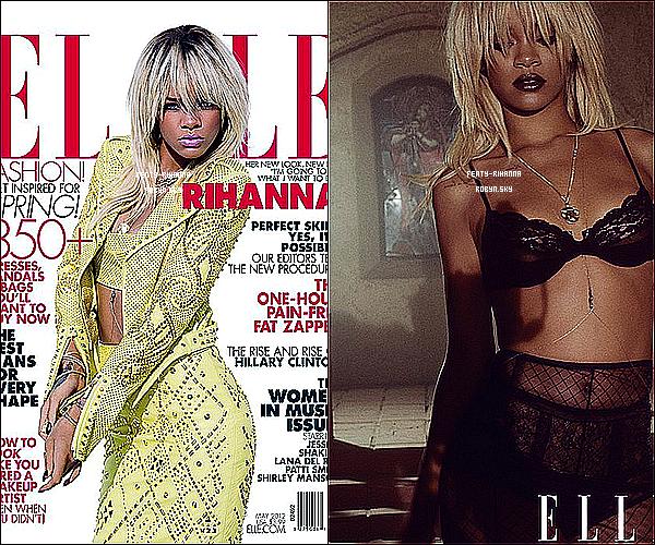 .  Rihanna pose une nouvelle fois pour le magasine « Elle » .