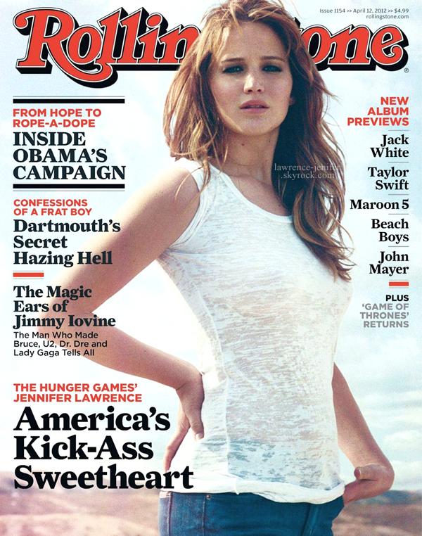 . WED, MARCH 28TH 2012   magazine_ Jennifer apparaît dans le magasine Rolling Stone d'avril en tant que cover-girl. Le shoot s'est déroulé dans le désert Californien, avec le photographe Theo Wenner. Vous pouvez jeter un coup d'oeil aux arrières des coulisses en visionnant la vidéo présente ci-dessous. La seule photo disponible actuellement nous assure et nous promet un shoot tout à fait merveilleux ! .