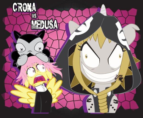 Mlp soul eater (medusa,chrona,blair,stein.)