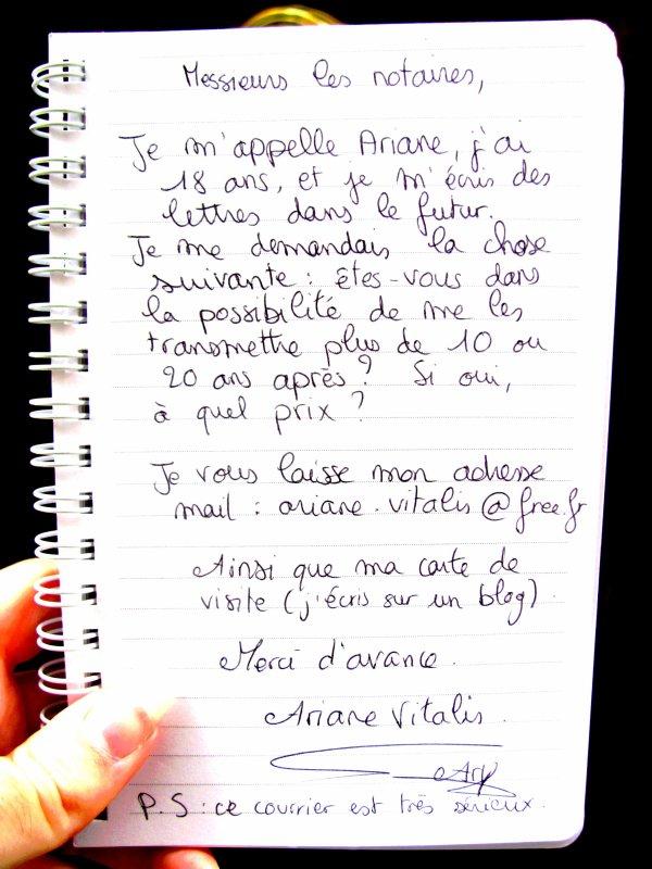 Lettre à Madame Stéphanie Janicot.