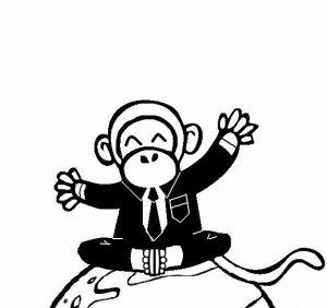 Confession à une feuille de papier et désespoir d'un singe.