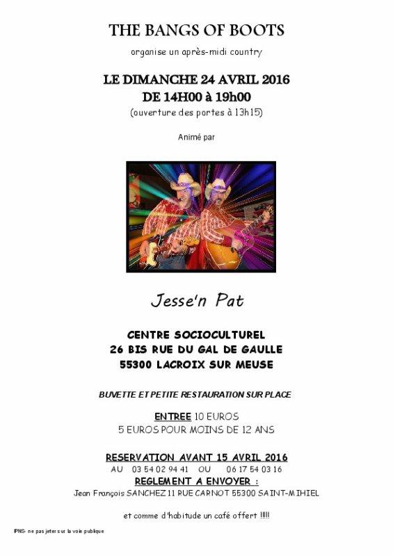 AM country  Dimanche 24 avril 2016 LACROIX SUR MEUSE (55)