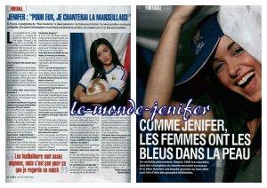Jenifer en une de VSD, le 23 Mai 2oo2