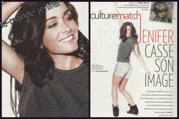 Elle est ... Magnifique !!! Jenifer dans le DH Belge & Paris Match!  Mai 2o11.