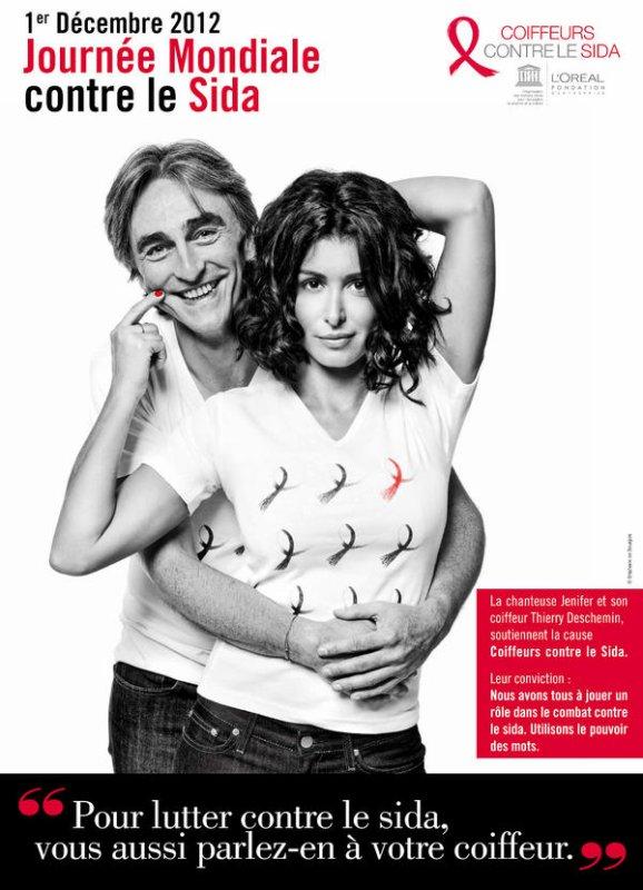 """Séance pour l'affiche de Loréal """" Coiffeurs contre le sida """""""
