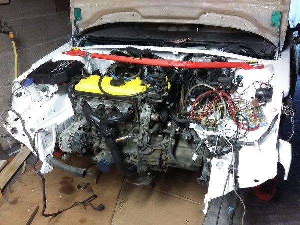 """Moteur remonter, rénovation optique""""pas fini"""", démarrage moteur"""