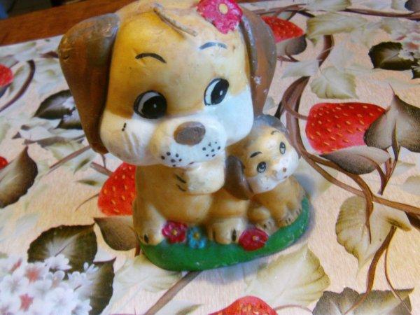 voici la maman chien et son petit
