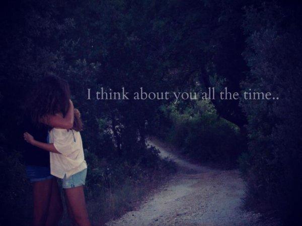 Dans une journée je pense une seule fois à toi, mais cela dure 24h ♥