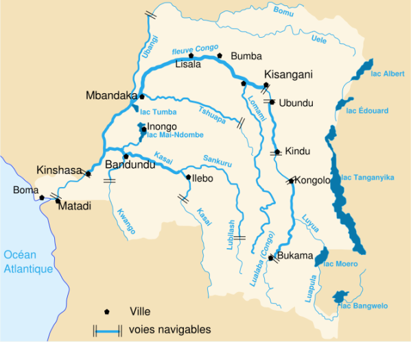AIDEZ L'AFRIQUE A JOUIR DES EAUX QUE LE FLEUVE CONGO JETTE DANS L'OCEAN ATLANTIQUE