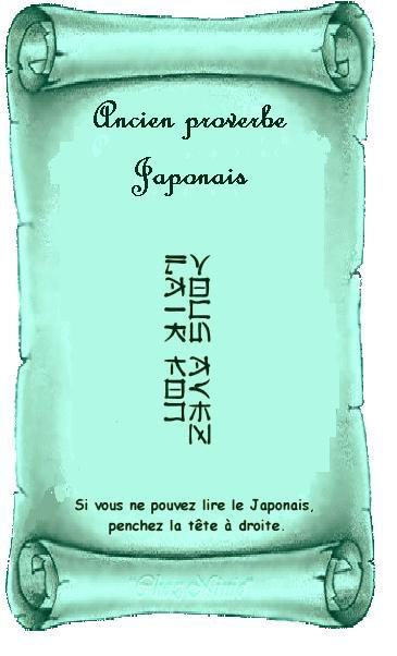 encien proverbe japonai