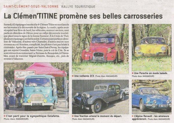 Clémentitine 4 (2016): article dans le progres du 28 03 2016.....merci alain ^^