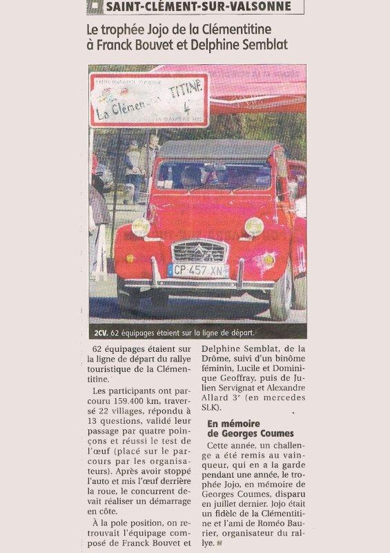 Clementitine 4 (2016): article du pays du 31 03 2016............merci emma^^