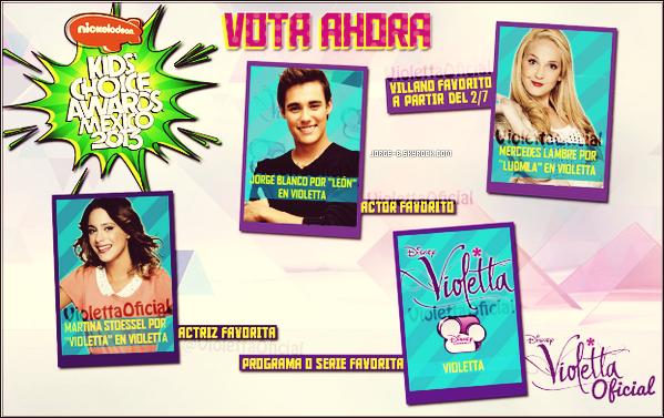 . De nouvelles photos de Violetta, de photos personnelles et du cast à Madrid ainsi qu'un reportage et une nomination au KCAM ! .