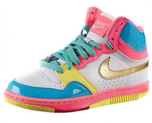 Nike CourtForce Blanc Rose