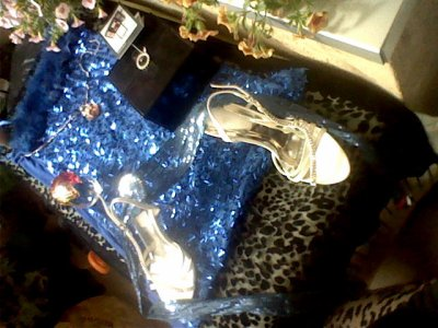 les vetements que ma couturière ma produit lors de mon défilé et tous les cadeux que j ai eu pass la production le parfum oriens le collier produit cristal d arc fait main palette maquiage the color institue beauté produit pas sephoras robe bleue vip poil lapin coloré chaussure et stass cristal