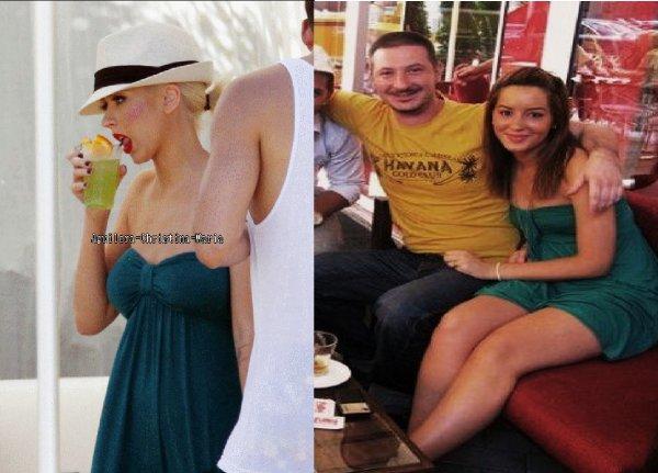 Dafina Zeqiri kopjon Christina Aguilera