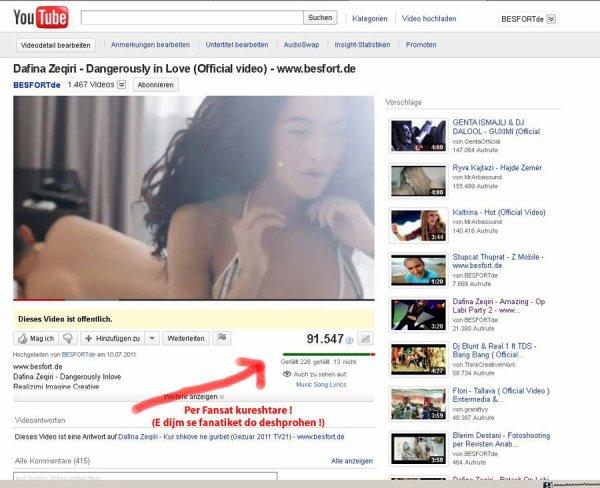 Dafina Zeqiri dhe Besfort.de manipulojn !!!! Nuk pranojn KRITIK !!! ^^ :)
