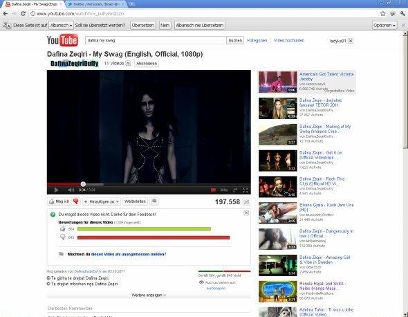 Videoklipi i Dafines - My Swag eshte Deshtim I Madh ;) 564 Likes dhe 645 Dislikes !!!