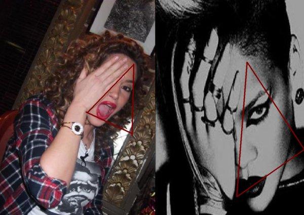 Valla Dafina krejt simbolet e Satanistat po i din... Ku me dit ku e ka msu ;) :)