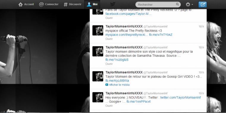 Pour plus d'info sur Taylor Momsen :P