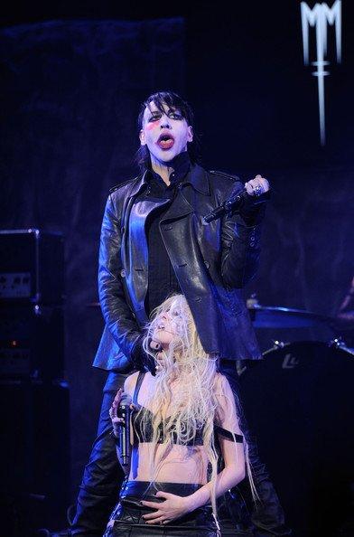 Taylor Momsen et Marilyn Manson