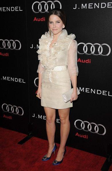 Sophia chez Audi, sortant des studios de la chaine E et à la première de The Green Hornet.