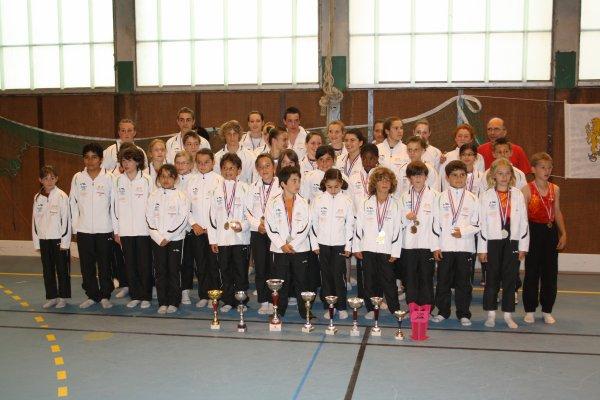 Compétition de trampoline en Franche-Comté