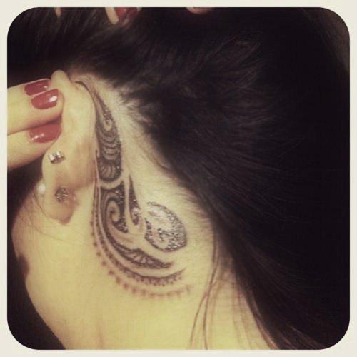 Blog de ink holesandscars page 7 ink holes and scars - Tatouage derriere oreille ...