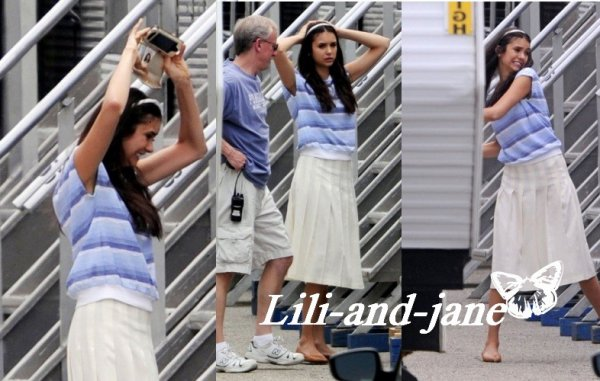 Nina sur le tournage de the perks of Being a WallFlower