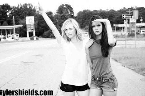 Les acteurs et Tyler Shields!First part:Candice.