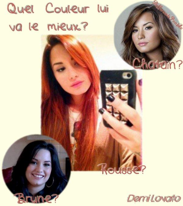 Quel Couleur va le mieux à Demi Lovato?
