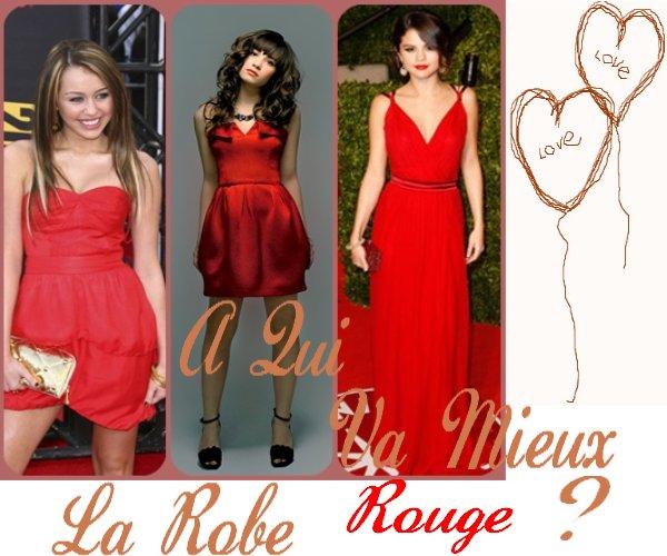 Qui porte le mieux la robe rouge ?