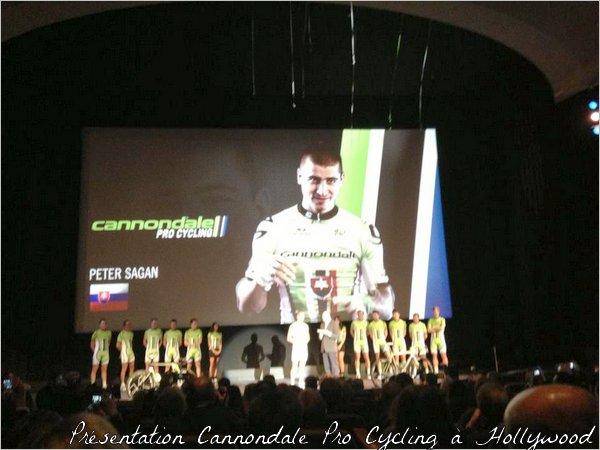 """Présentation Cannondale Pro Cycling à Hollywood (12/01/2013)"""