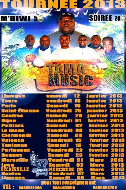 Tama Music Tournee 2013 (affiche dofficiel de BACO ALI)