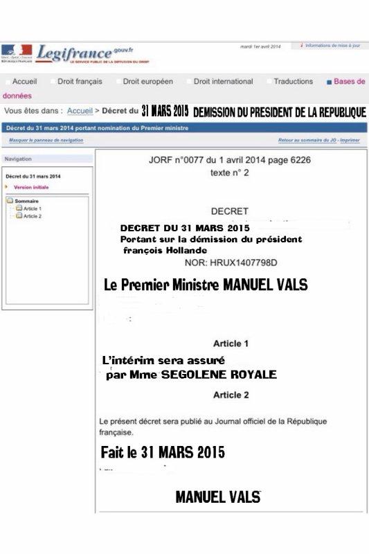 DERNIERE HEURE    DEMISSION DU PRESIDENT DE LA REPUBLIQUE