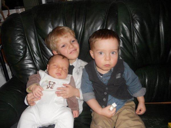 Mes trois petits princes d'amour!