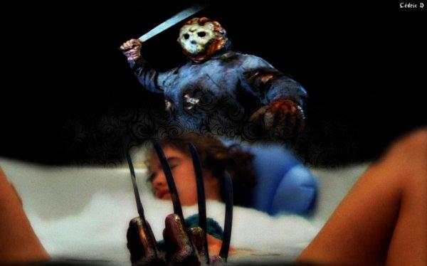montage que j'ai fais sur Jason et la griffe de Fréddy dans le bain