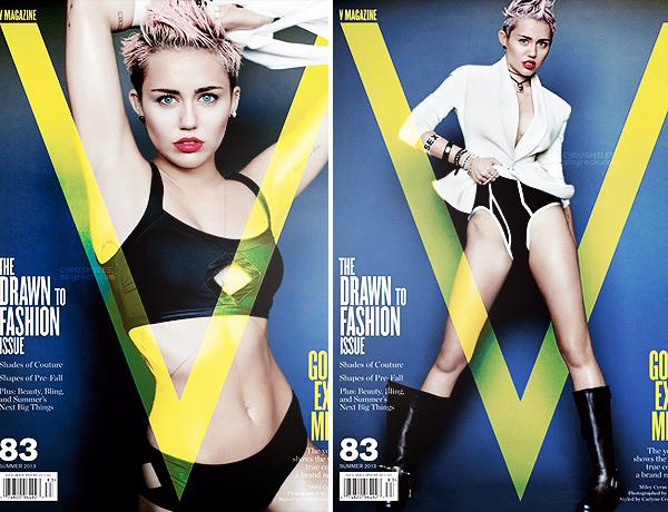 Miley fait la couverture de V Magazine. Découvrez l'intégralité des photos qui sont très originales et sexy    deMiley Cyrus prises par le photographe Mario Testino.    Vos avis ?