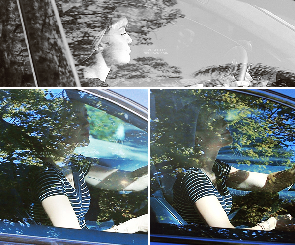 01.05.2013 : Miley a été aperçue au volant de sa voiture, arrivant au studio d'enregistrement.