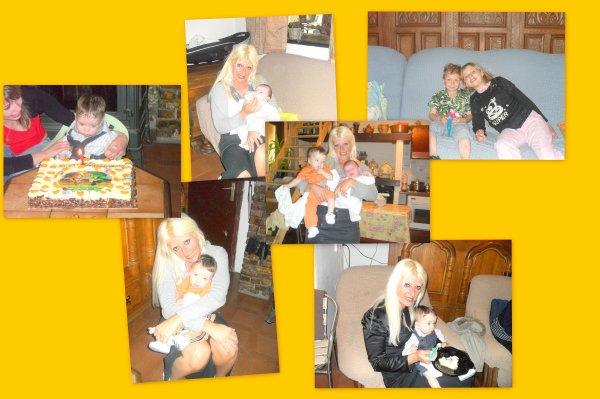 montage photo de moi mon fileull et ma belle soeur  et ma fille et mes 2 neveux